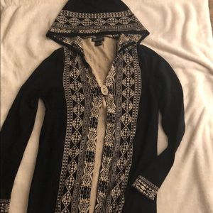 Lucky brand hooded long cardigan
